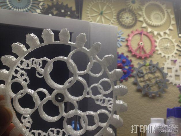 透明齿轮 3D模型  图4
