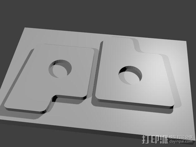 pb logo奖章 3D模型  图2