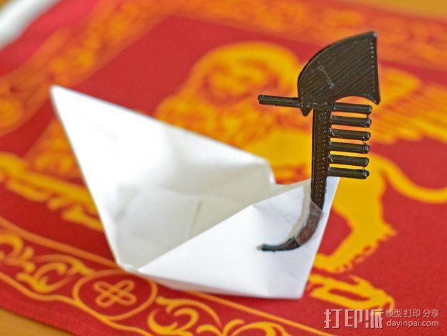 平底船的船头铁 3D模型  图1