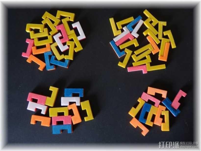 彩色积木 线夹 3D模型  图1