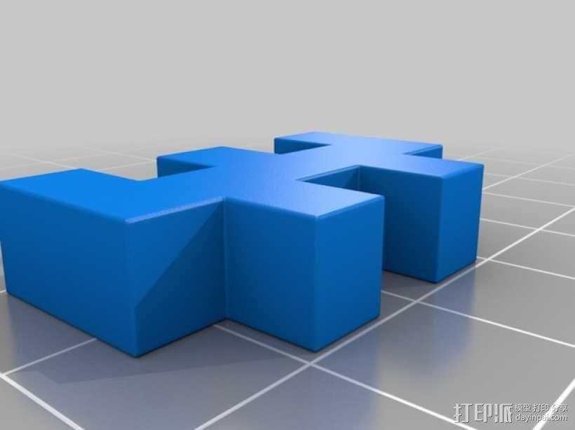 彩色积木 线夹 3D模型  图2