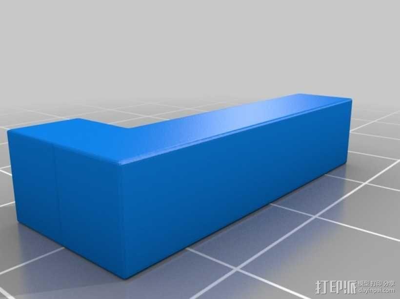 彩色积木 线夹 3D模型  图3