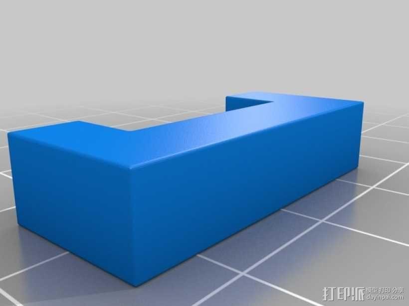 彩色积木 线夹 3D模型  图4