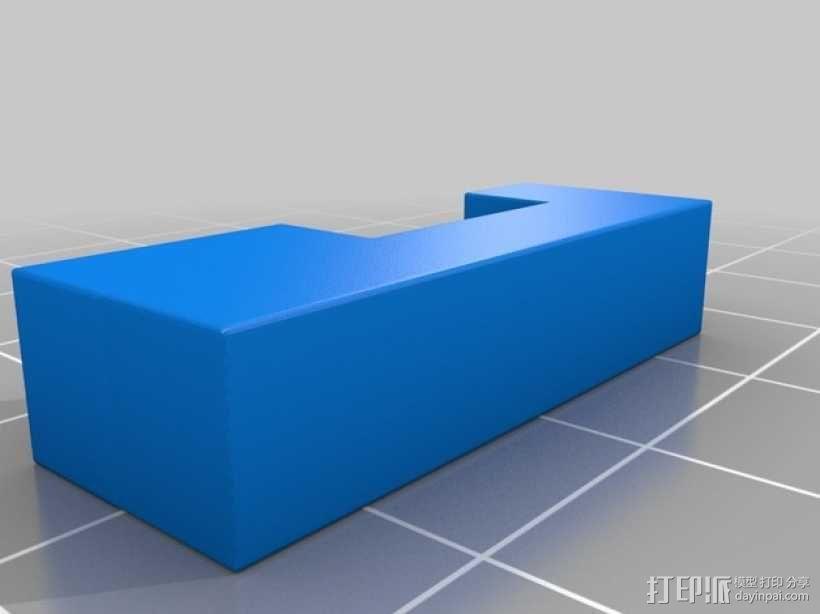 彩色积木 线夹 3D模型  图5