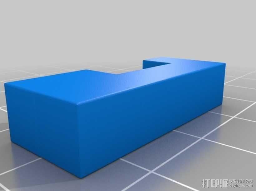 彩色积木 线夹 3D模型  图6