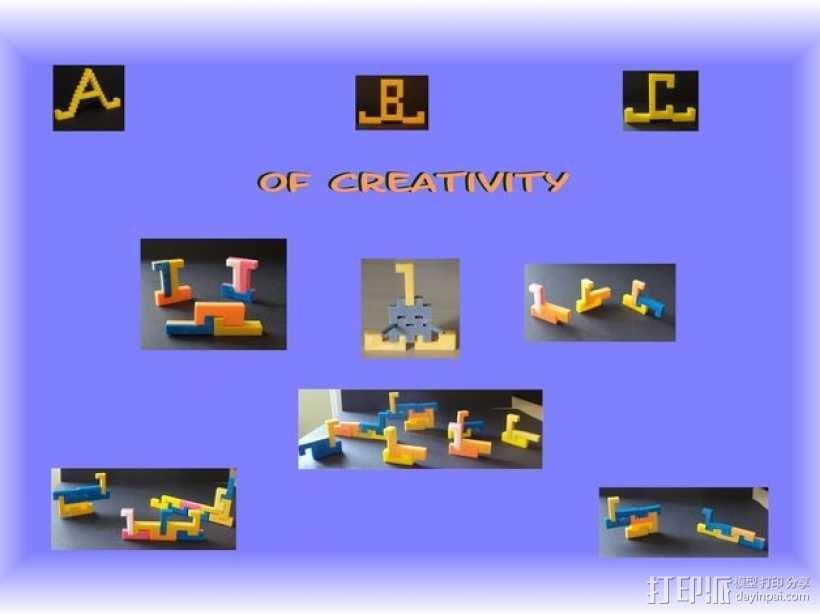 彩色积木 线夹 3D模型  图9