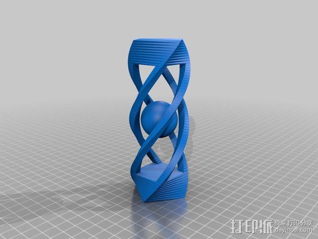 螺旋体中的小球 3D模型  图1