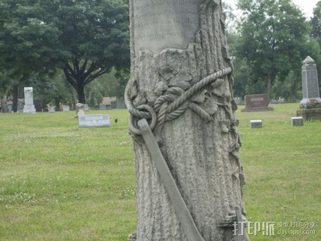 芒特普莱森特公墓墓碑模型 3D模型  图1