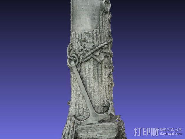 芒特普莱森特公墓墓碑模型 3D模型  图3