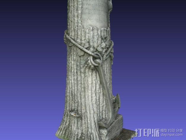 芒特普莱森特公墓墓碑模型 3D模型  图4