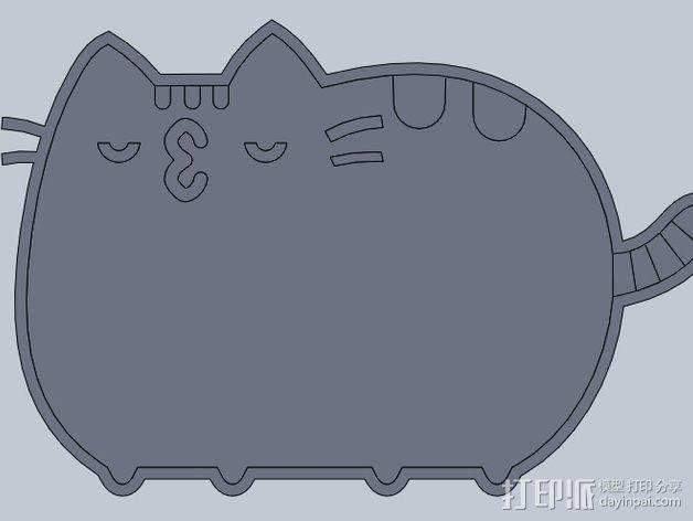 大懒猫pusheen 3D模型  图2