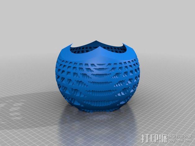 球面投影 蛛网图案 3D模型  图2