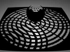 球面投影 蛛网图案 3D模型