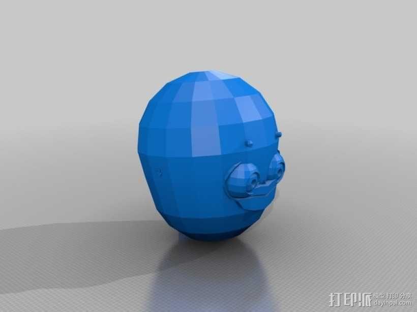 机器人头部模型 3D模型  图1