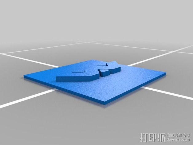 Weland-Yutani Corp标志 3D模型  图1