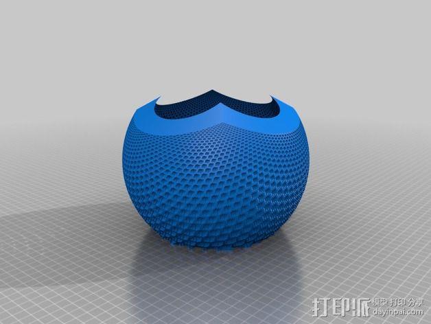 蜂巢图案球面投影 3D模型  图2