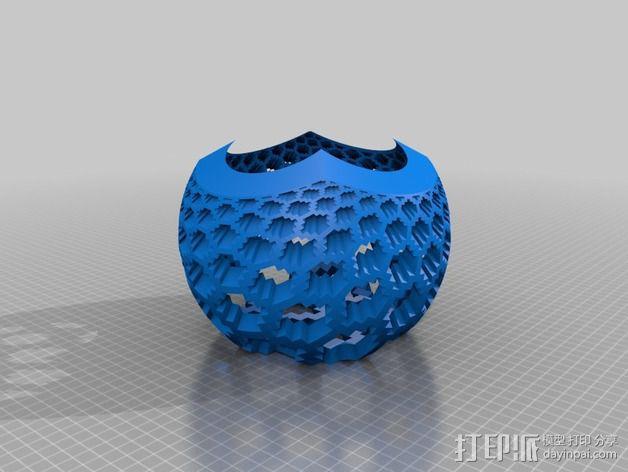 蜂巢图案球面投影 3D模型  图3