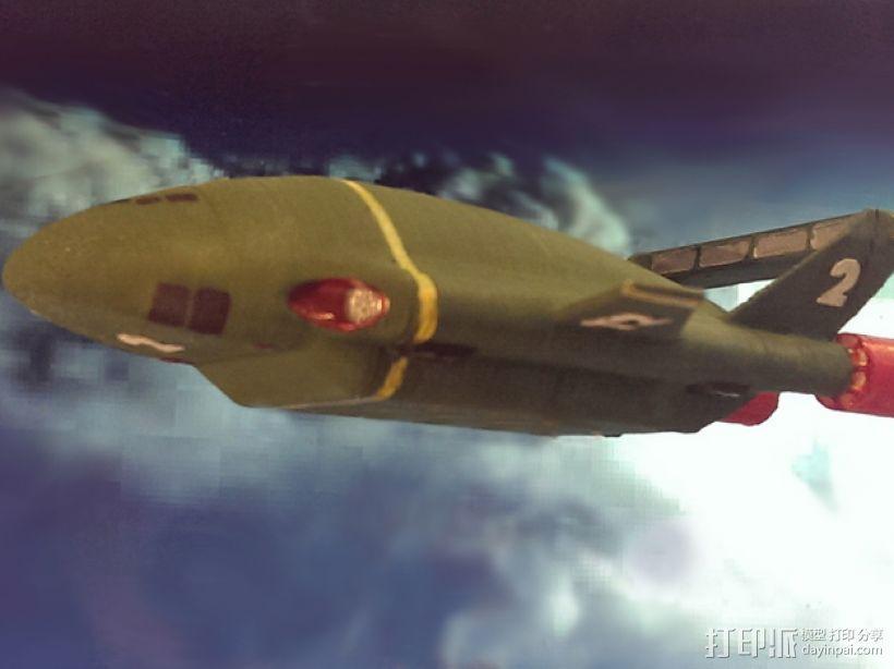 雷鸟飞机模型 3D模型  图1