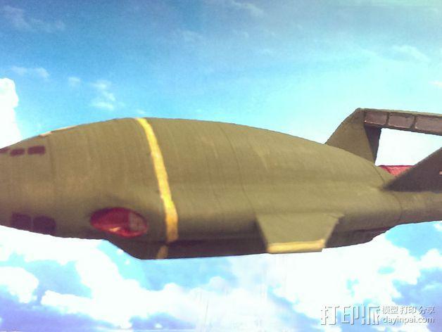 雷鸟飞机模型 3D模型  图2