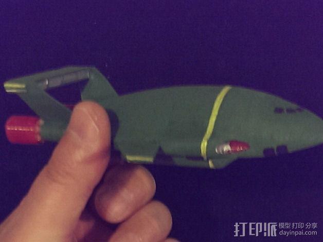 雷鸟飞机模型 3D模型  图4