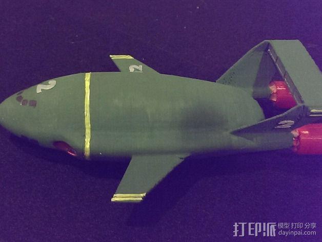 雷鸟飞机模型 3D模型  图3