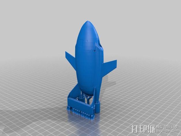 雷鸟飞机模型 3D模型  图5