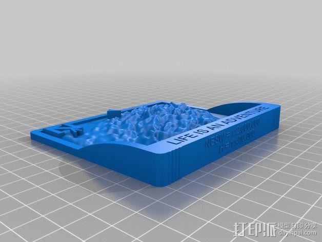 勃朗峰地形图 3D模型  图2
