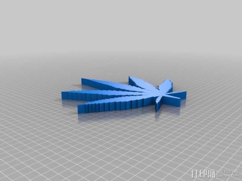 大麻叶 3D模型  图2