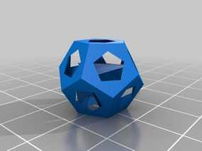 甲烷水合物分子模型 3D模型