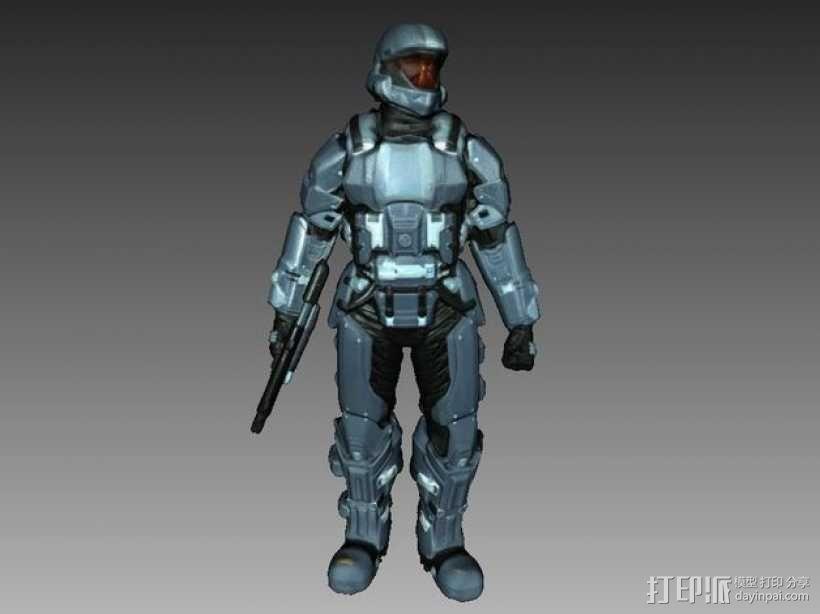 光晕3 士兵模型 3D模型  图1