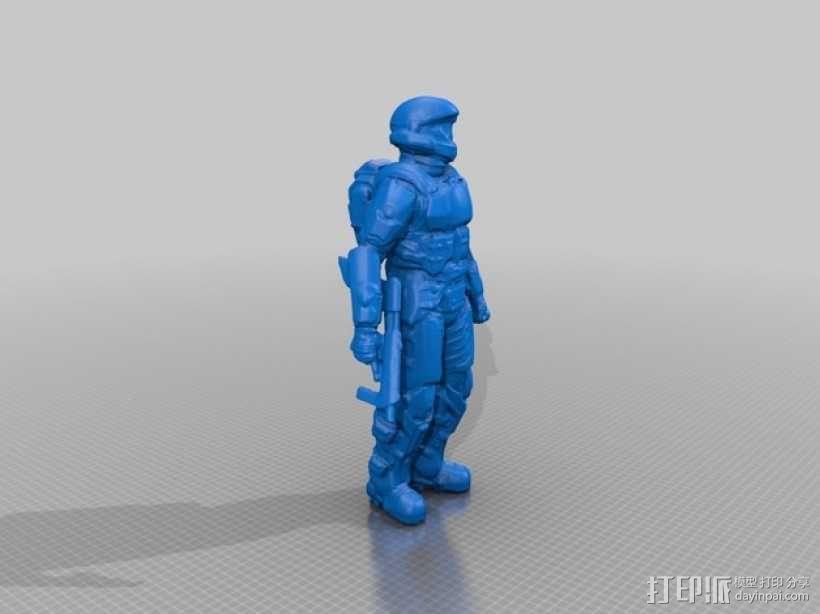 光晕3 士兵模型 3D模型  图2