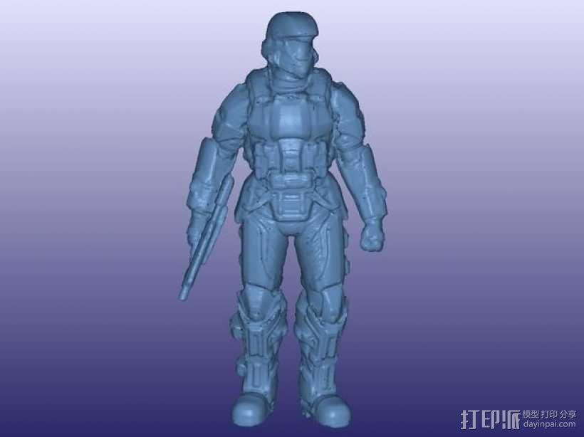 光晕3 士兵模型 3D模型  图3