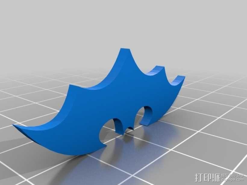 蝙蝠侠标志 3D模型  图1