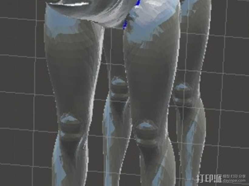 长腿猪模型 3D模型  图2