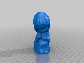 小女孩玩偶 3D模型