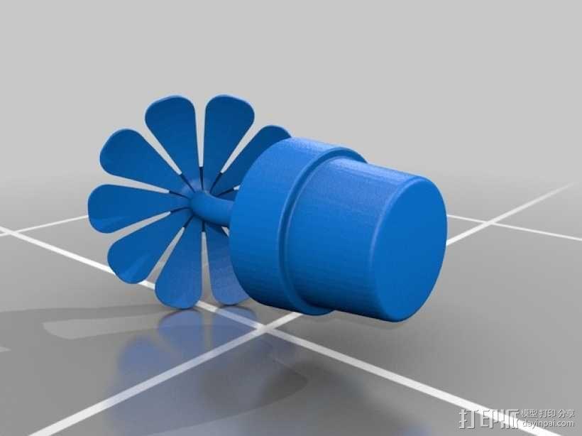 一盆花 太阳花和花盆 3D模型  图1