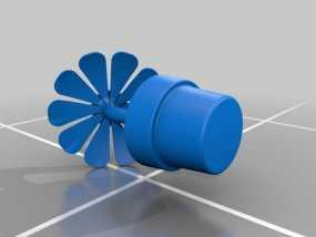 一盆花 太阳花和花盆 3D模型