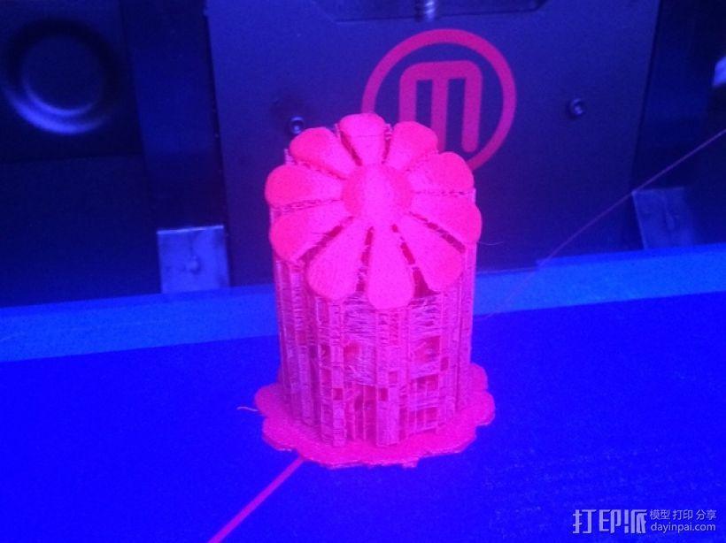 一盆花 太阳花和花盆 3D模型  图3