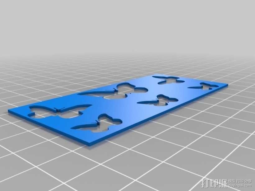 蝴蝶面板 3D模型  图1