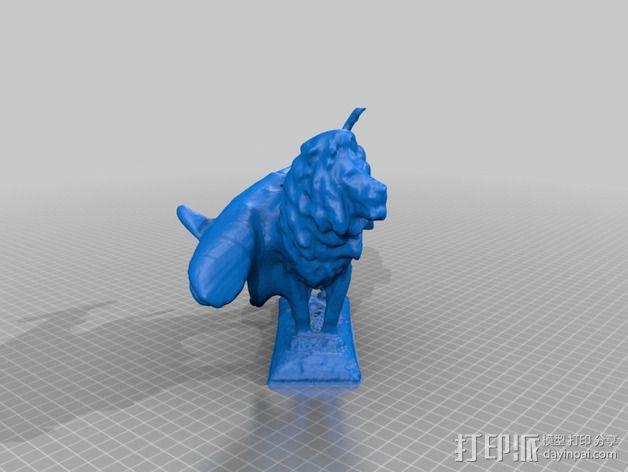 狮子与鲨鱼 3D模型  图2