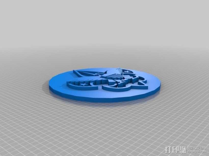 BSA logo钱币 3D模型  图2