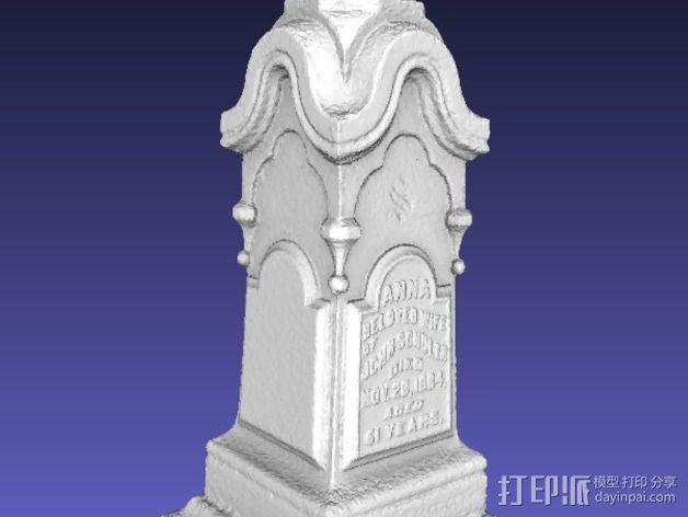 墓碑 3D模型  图3