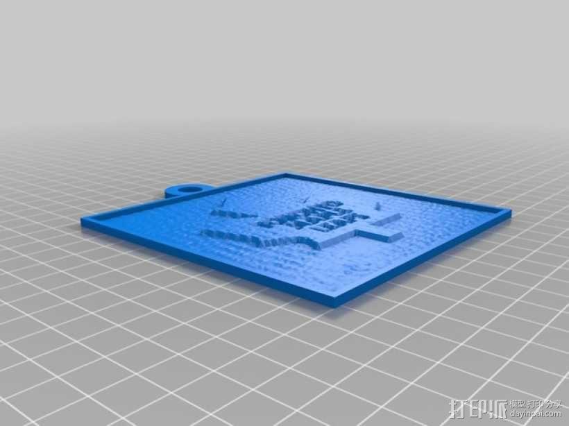 多伦多枫叶透光浮雕 3D模型  图1