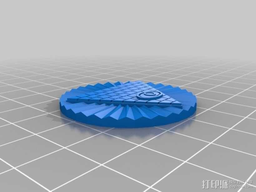 金字塔之眼 标志 3D模型  图1