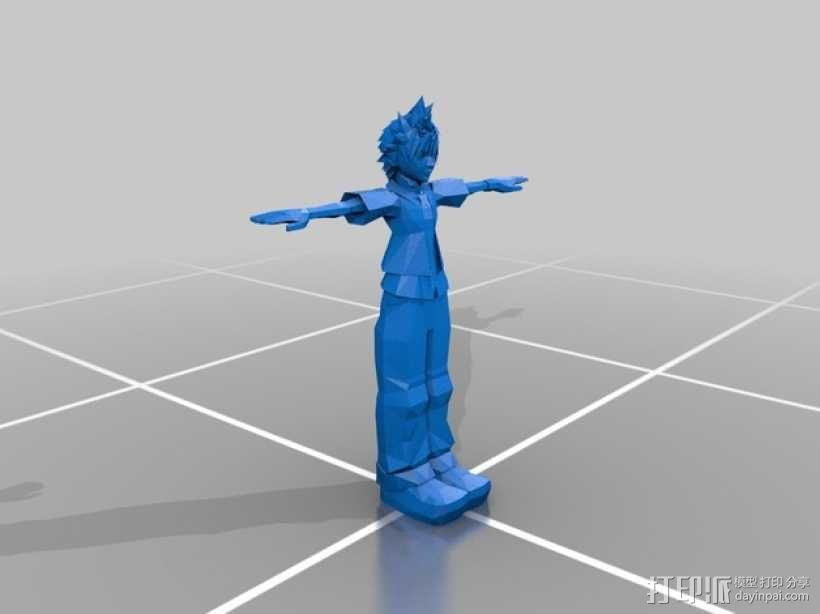 Roxas洛克萨斯 3D模型  图1