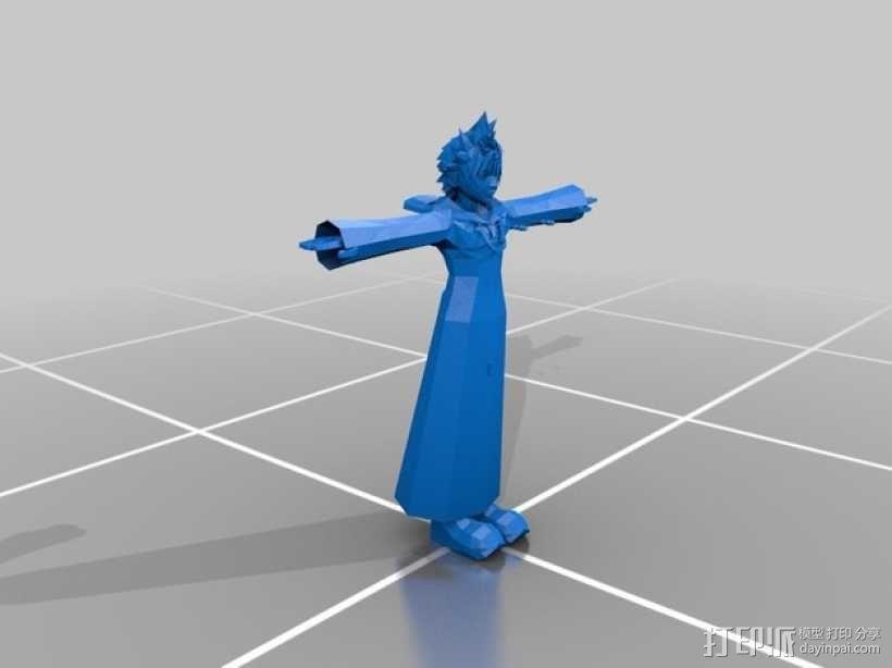 穿宽斗篷的洛克萨斯 3D模型  图1