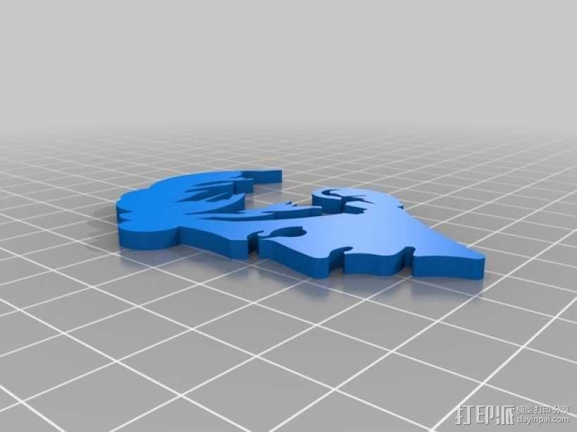 Bowie人头像3D涂鸦模型 3D模型  图2
