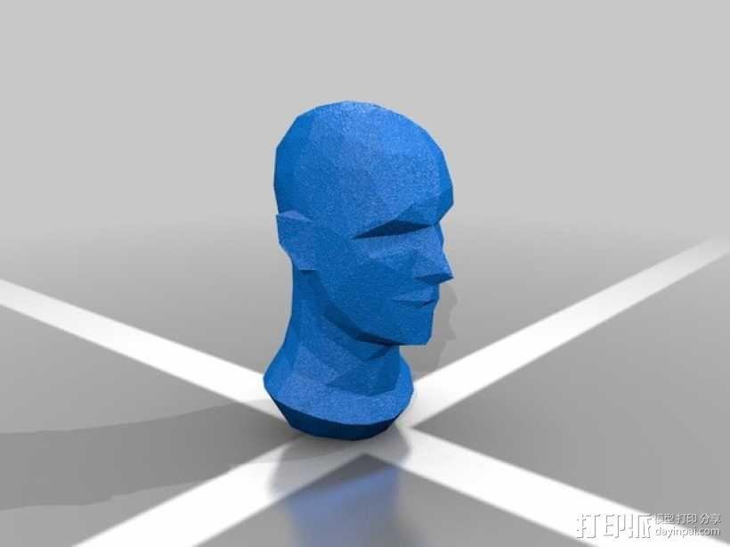 低面数人头模型 3D模型  图2