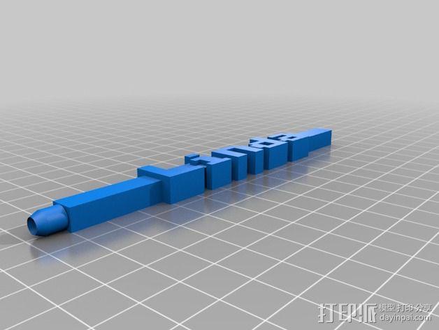 Linda铅笔套 3D模型  图1