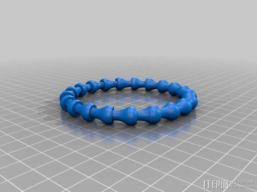 可伸缩手链 3D模型  图1